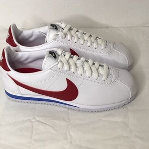 Women's Nike classic Leather Cortez White/Red 7.5